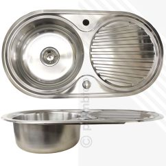 Round Kitchen Sink Cart Home Depot Single Bowl 1 Stainless Steel Inset