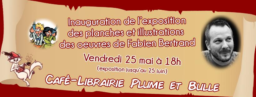 Inauguration de l'exposition de Fabien Bertrand