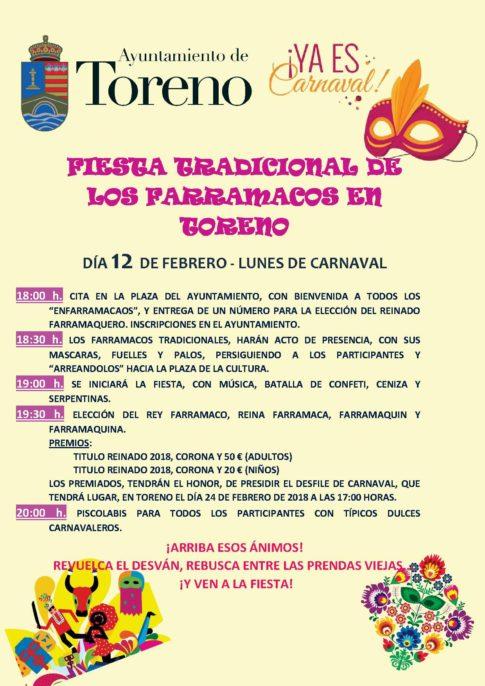 Fiesta Tradicional de los Farramacos en Toreno. Plumilla Berciano