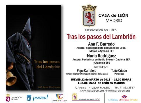 Invitacion Casa Leon Tras los Pasos del Lambrión. Plumilla Berciano