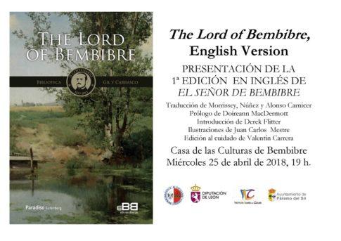 The Lord Of Bembibre. PlumillaBerciano. Invitacion