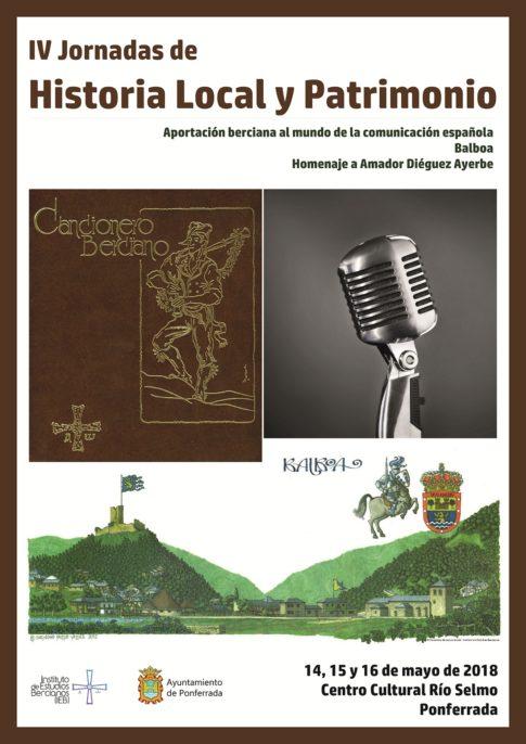 Jornadas Historia Local y Patrimonio. IEB. Cartel. Plumilla Berciano