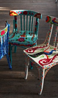 A little bit of boho. Upcycled Indian chairs ...