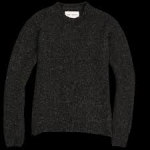 Round Neck alpaca sweater in anthracite