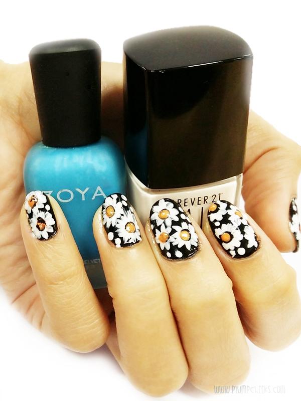 Nail Art Daisy 2