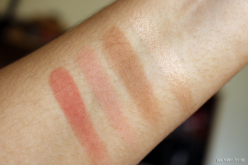 LA Girl Blush Collection in Spice Swatches