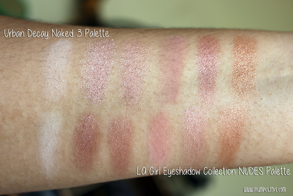 LA Girl Eyeshadow Collection NUDES versus Urban Decay Naked 3 (3)