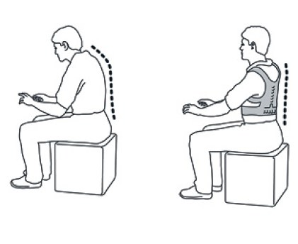 Colete corretor de postura magnetico