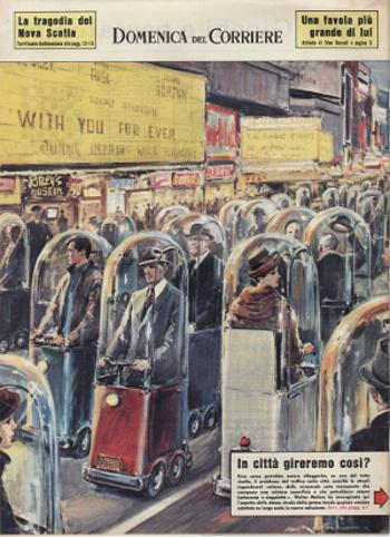 La facciata posteriore della copertina della Domenica del Corriere del 16 dicembre 1962
