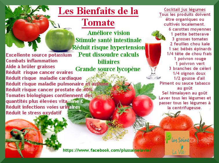 bienfaits tomates