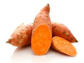 Three sweet potatoes