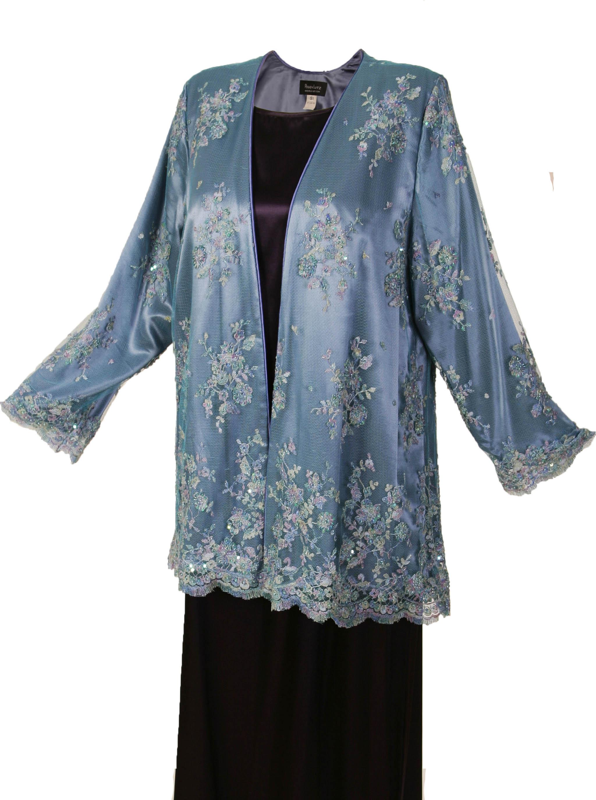 Plus Size Mother of Bride Gabi Jacket Beaded French Lace