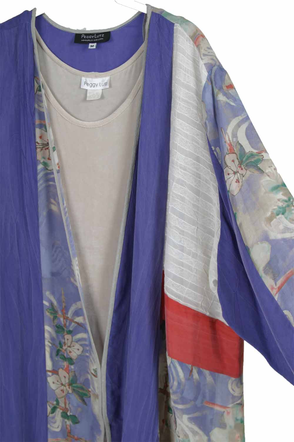 Plus Size Special Occasion Jacket Silk Floral Periwinkle