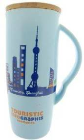 ΚΟΥΠΑ SPACECOW TOURISTIC NEW YORK ΜΠΛΕ 8X18CΜ 600ML