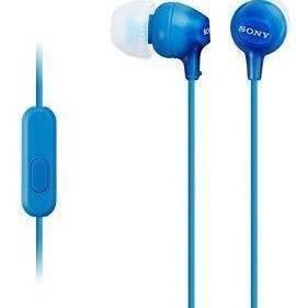 SONY MDR-EX15APL LIGHTWEIGHT IN-EAR HEADPHONES BLUE
