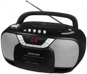 SENCOR SPT 207 RADIO/CASSETTE/CD PLAYER BLACK