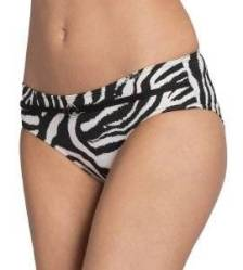 BIKINI BRIEF TRIUMPH BEAUTY-FULL ZEBRA MIDI PT ΜΑΥΡΟ