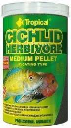 ΤΡΟΦΗ ΨΑΡΙΩΝ TROPICAL CICHLID HERBIVORE MEDIUM PELLET 1000ML