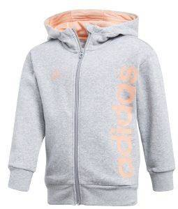 ΖΑΚΕΤΑ ADIDAS PERFORMANCE LITTLE KIDS FZ HOODIE ΓΚΡΙ