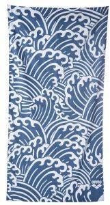 ΠΕΤΣΕΤΑ ARENA BEACH SMART TOWEL WAVES ΛΕΥΚΗ/ΜΠΛΕ (170 Χ 90 CM)
