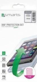 4SMARTS 360° PROTECTION SET FOR SAMSUNG GALAXY J3 2016 J320 PINK