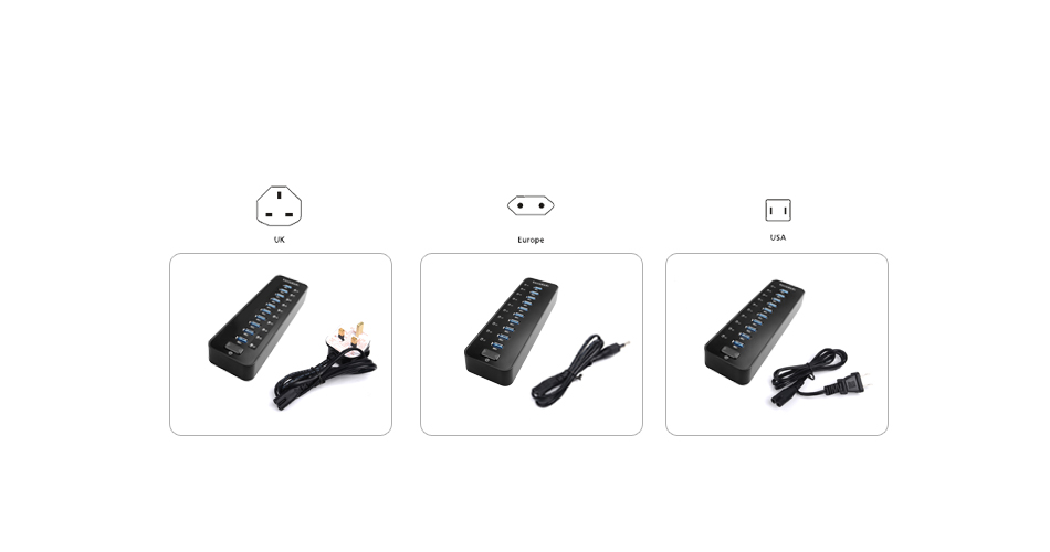 dodocool 5Gbps 10-Ports USB 3.0 Hub for MacBook PC Laptop