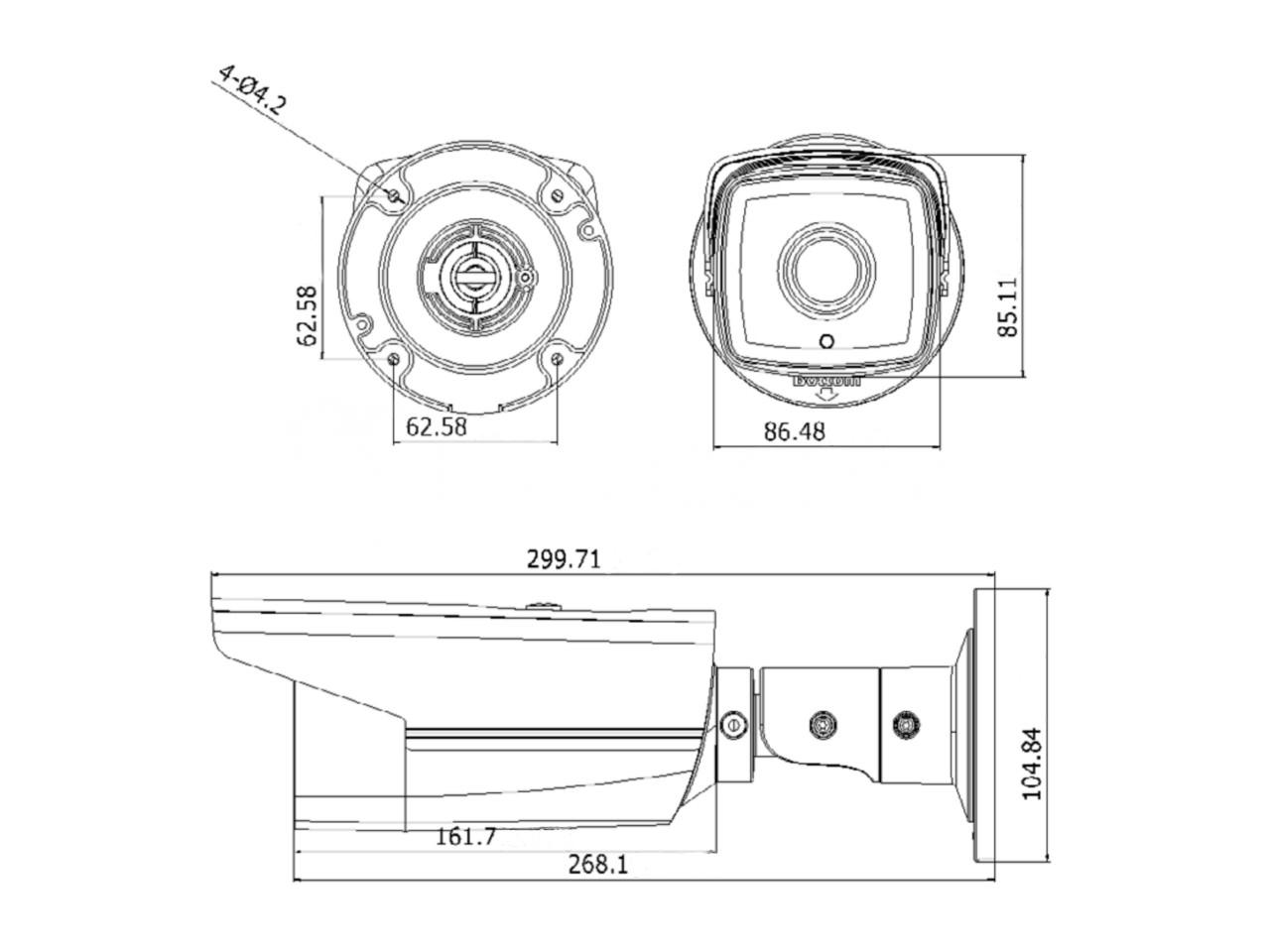 Hikvision DS-2CD2T32-I5 (4mm) Bullet camera
