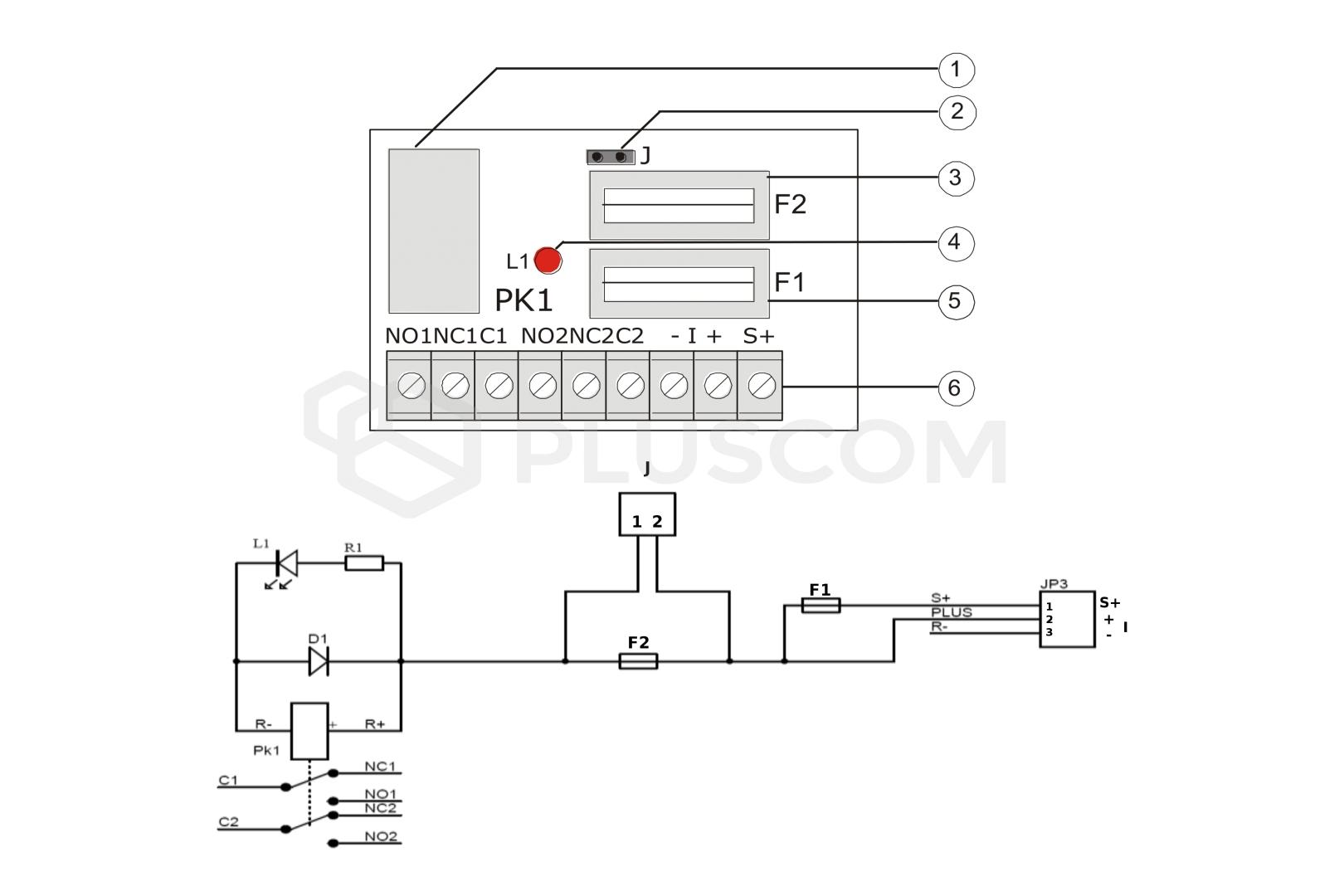 Moduł przekaźnikowy Pulsar AWZ 513