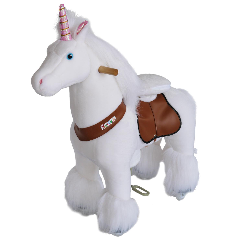 Ponycycle Toy Ride On Pony Unicorn Medium At Plush Horse