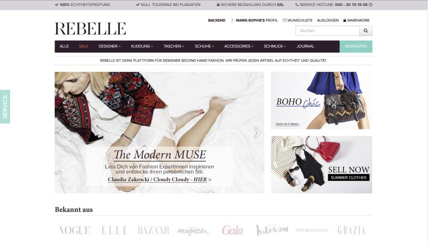 Website Rebelle
