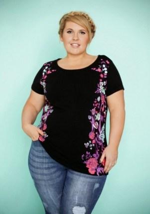 Plus-Size-Shirt aus der Maite-Kelly-Kollektion - Bild: bonprix