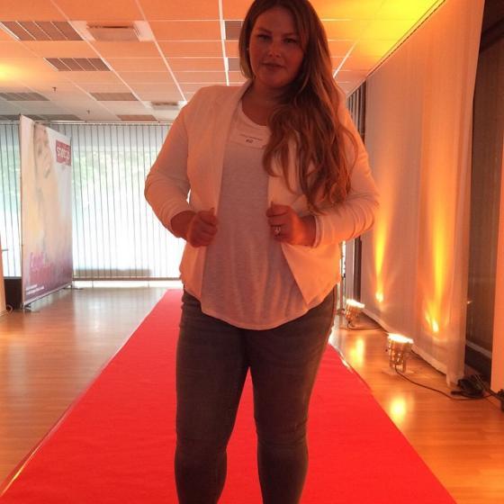 Agnieszka: Eine der zwei glücklichen Gewinnerinnen! Bild: Sheego