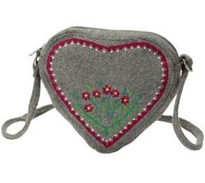 Herzförmige Handtasche