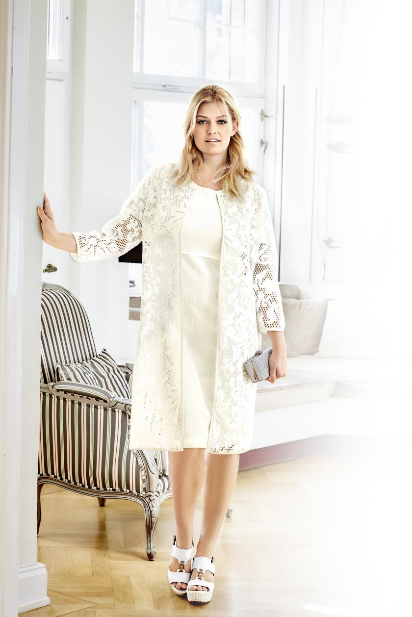 Plus Size Mode ganz in Weiß I Mode von Guido Maria Kretschmer by Heine