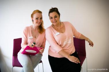 Sabrina Schaumburg, Schauspielerin und Choreografin & Laura Goymann, amtierendes Fräulein Kurvig