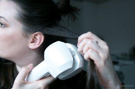 Haircurler Schritt 1: Strähne separieren