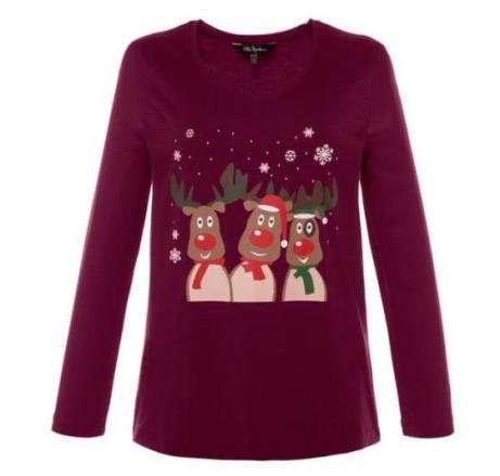 Weihnachtsshirts für Curvys | Credits: Ulla Popken