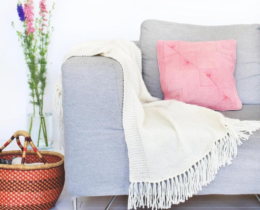 DIY-Wolldecke von We Are Knitters aus der Blanket Kollektion | Material Merinowolle