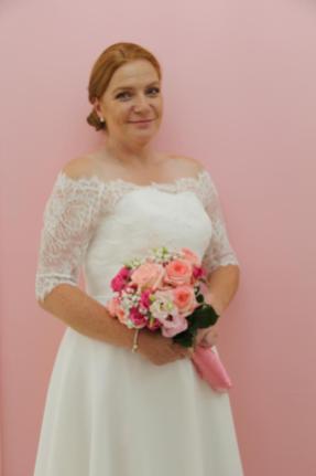 Brautkleid mit zarter Spitze