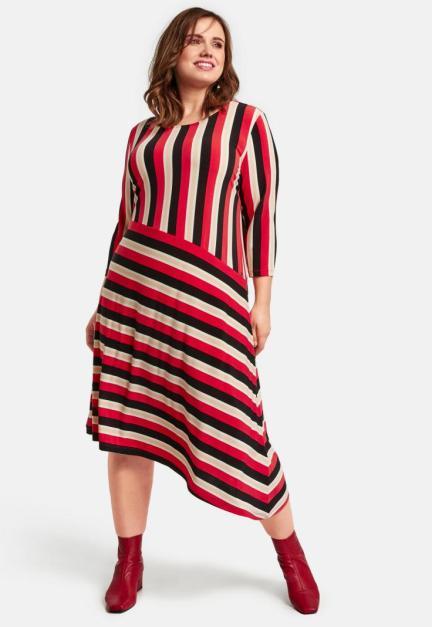 Asymetrisch gestreiftes Kleid | Samoon