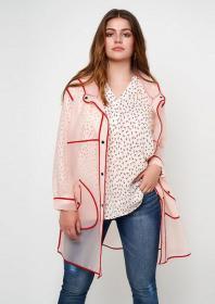 Leicht transparent - Regenjacke für Curvys von Maxima Fashion