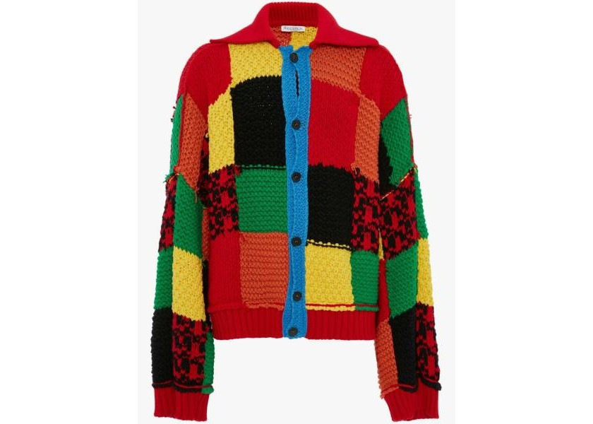 JW Anderson Colourblock Patchwork Cardigan | Credit: Lyst.de
