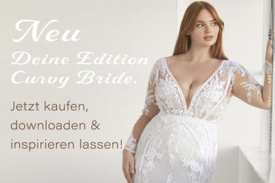 Anzeige Edition Curvy Bride Hochzeitskleid PlusPerfekt Pronovias2
