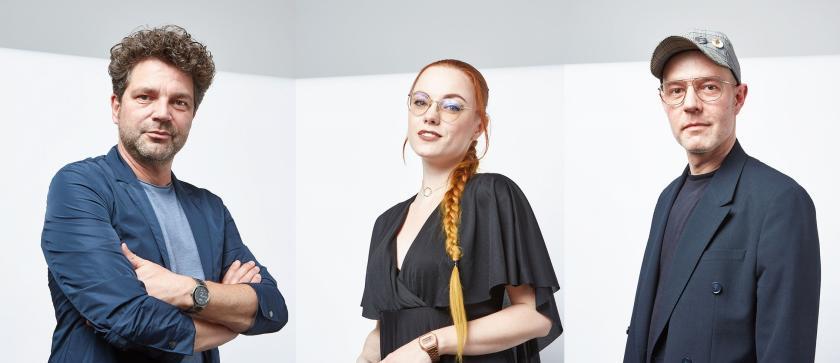(v.l.n.r.): Art Director Antonio Weinitschke, Make-Up-Artistin Sarah Scherer und stellvertretender Art Director Steven Meth | Credit: ZV des Deutschen Friseurhandwerks