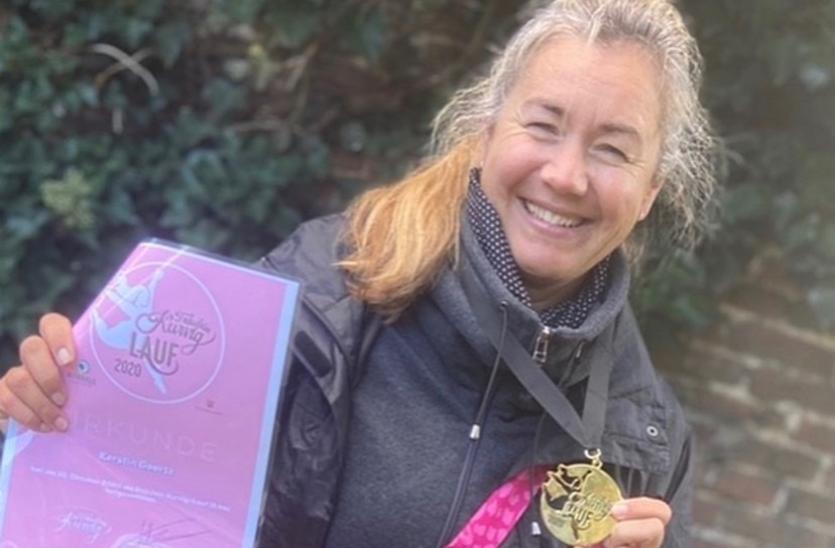 Kerstin Goertz beim Fräulein Kurvig Diversity Lauf 2020