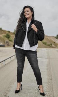 Plüsch-Jacke im Bikerstyle | Zoey Denmark