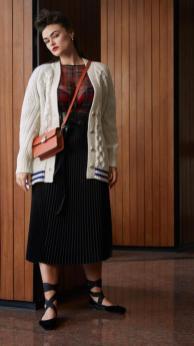 Stickjacke aus der Marina Rinaldi Kollektion