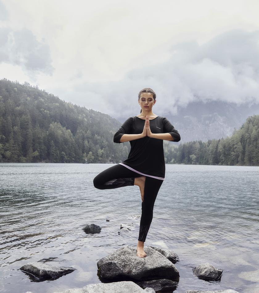 Yoga Shirt Yoga Hose Curvy Plus Size Mollige Rose