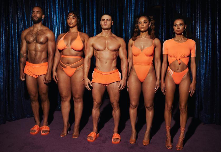 Size inclusive: Bademode von Adidas x Ivy Park in leuchtendem Orange