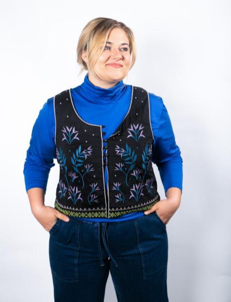 Nachhaltige Mode aus Schweden: Rolli & Weste von Gudrun Sjöden